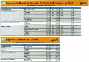 Horaires cars 1